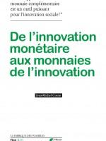 couverture du livre sur l'innovation monétaire