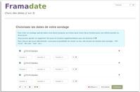 Sondage Framadate: remplissage des dates